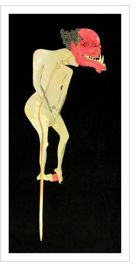 "Naked Demon - Vintage ""Wayang Kulit"" Javanese Shadow Puppet"