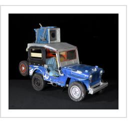 Blue Jeep with Washing Machine - Leandro Gomez Quintero (Cuba)
