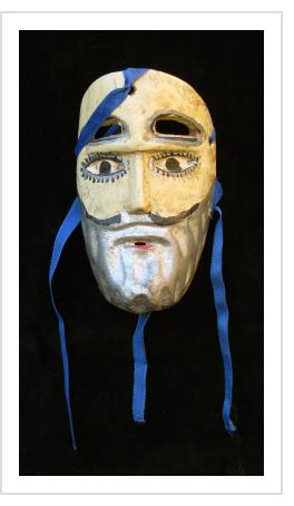Miniature Viejo mask from Mexico