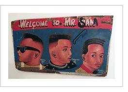 """Welcome to Mr. Sam"" - Barber Sign"