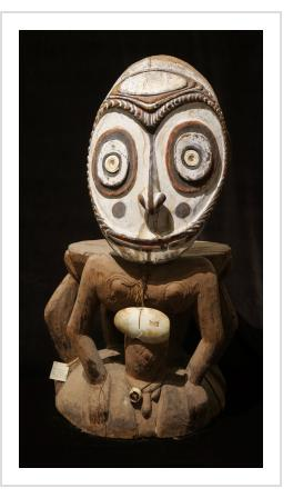 Iatmul Orator's Stool from middle Sepik River