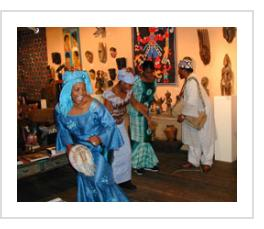 Twins Seven-Seven and troupe at Indigo Arts Gallery November 5, 2004