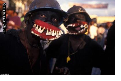 """Chaloska"" performers in Jacmel, Haiti (photo by Les Stone - Daily Mail U.K.)"