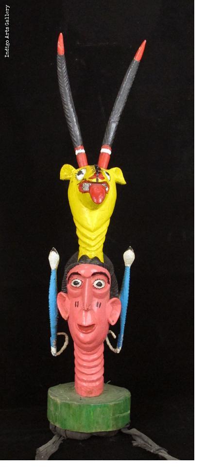 """""""Snake and Antelope"""" Janus Headcrest for Odelay Performance"""