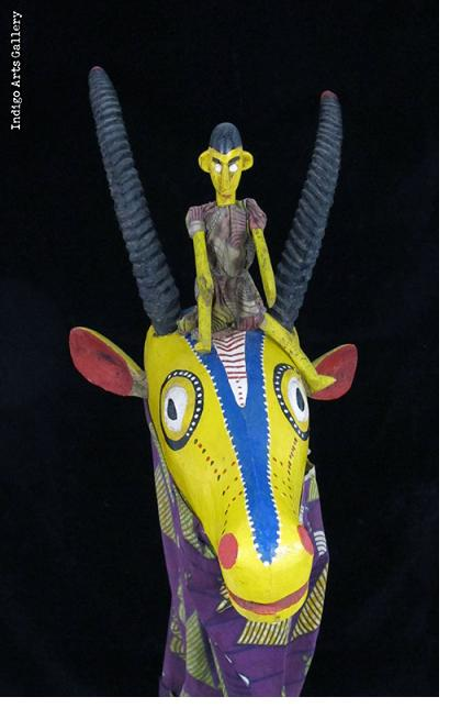 Antelope Rod-Puppet Sogo performance, Bozo people