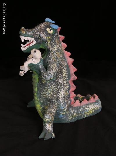 Hungry Dinosaur - Vintage Sculpture