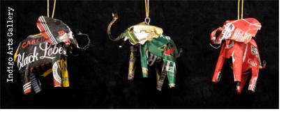 Recyled Soda Can Animal Ornaments