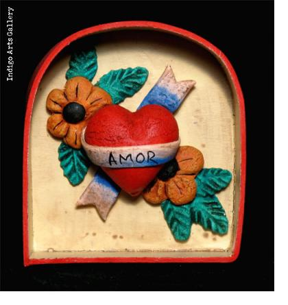 Amor Mini Heart Retablo/Ornament