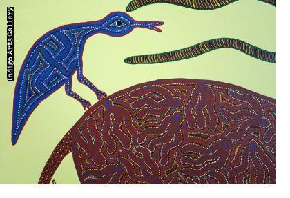 Anil Bariya - Antelope with Three Birds