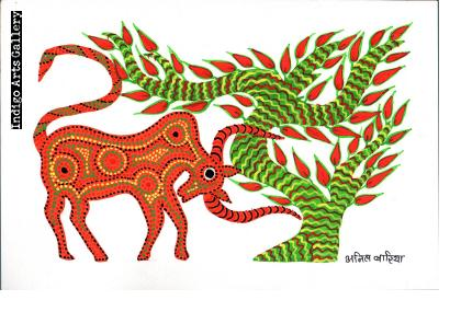 Red Goat and Tree