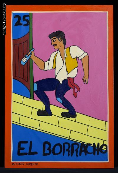 El Borracho - Loteria Card Painting
