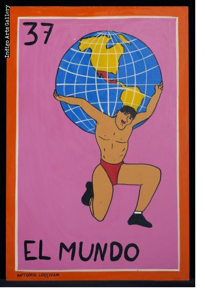 El Mundo - Loteria Card Painting