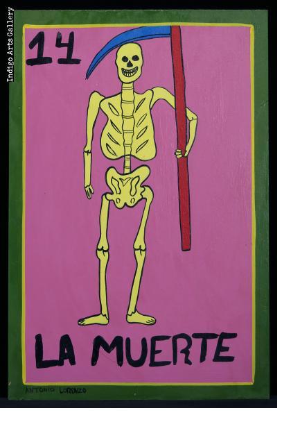 La Muerte - Loteria Card Painting
