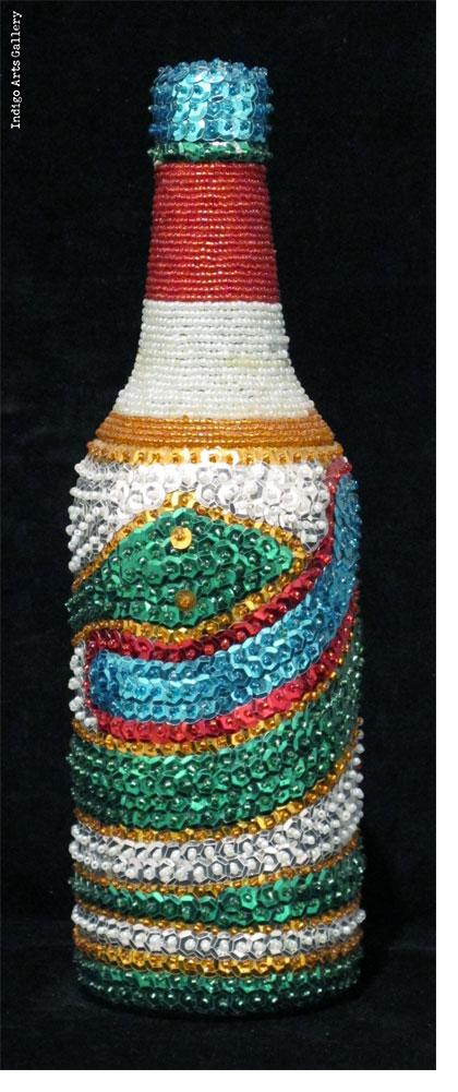 "Damballa (green)"" Vodou Bottle"