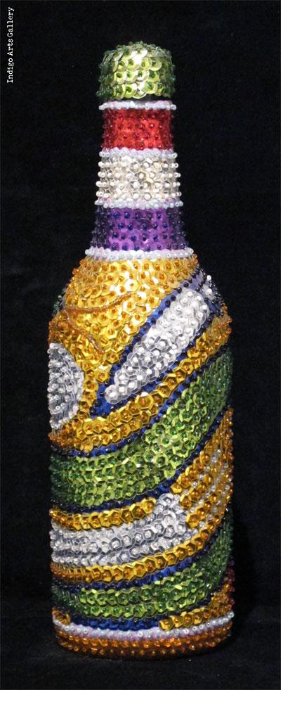"""Damballa (olive-green)"" Vodou Bottle"