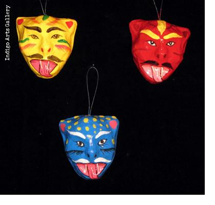 Mini Carnival Mask Ornaments