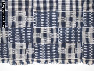 """Asante Indigo Kente Cloth """"woman's wrap"""""""