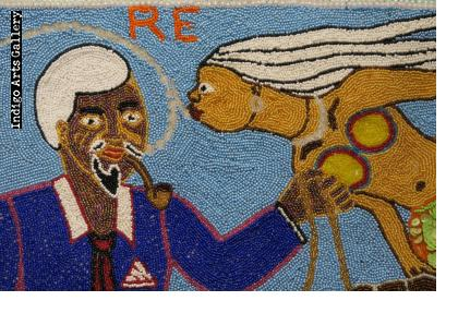 """""""Agoueh et La Sirene"""" Vodou Flag"""