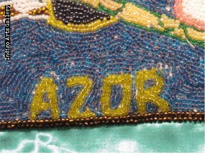 """""""Dambalah - Haida"""" Beaded Drapo Vodou (Vodou flag)"""