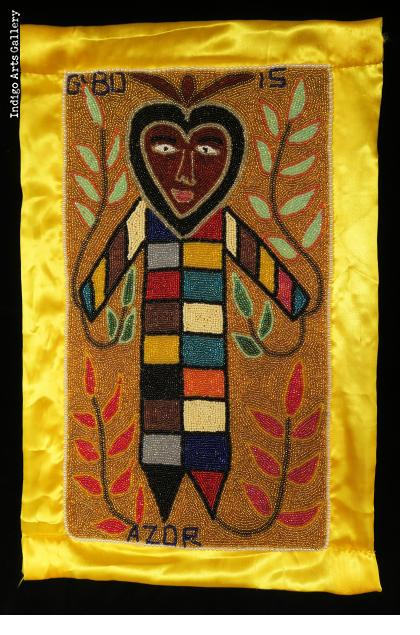 Gran Bois Beaded Vodou Flag