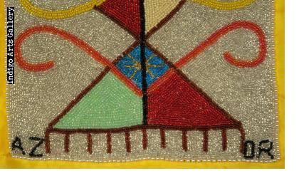 Gran Naloumba Beaded Vodou Flag
