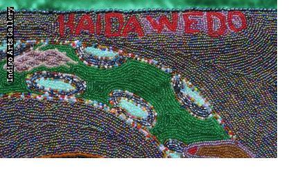 """""""Haida Wedo"""" (Mamy Wata) Vodou Banner"""