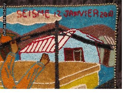 """""""Seisme 12 Janvier 2010"""" Beaded Drapo"""