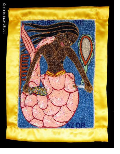 """La Sirene"" Beaded Vodou Flag"