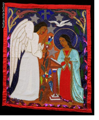 Annunciation - Beaded Flag