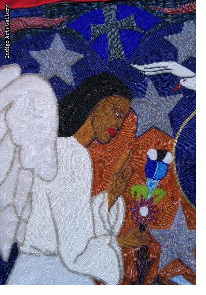 Annunciation - Beaded Flag