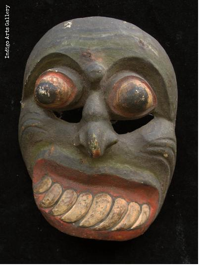 Antique Balinese Mask with Distorted Face