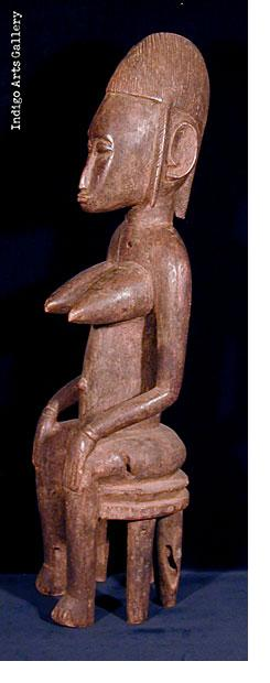 Seated Bamana Female Figure