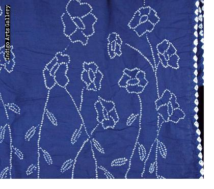 Indigo Bandhani Cotton Scarf