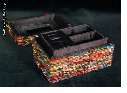Indian Glass Bangle Jewelry Box