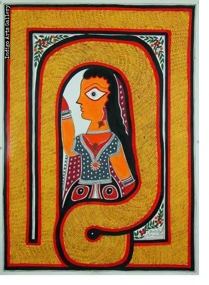 Snake Goddess - Mithila painting