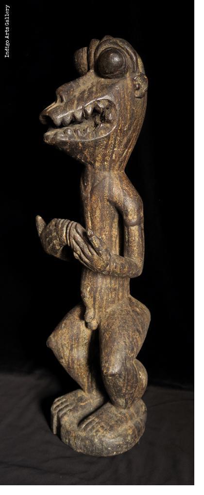 Baule Baboon Figure