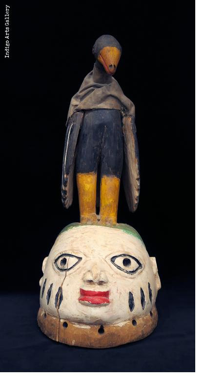 Fon Gelede Mask with Bird