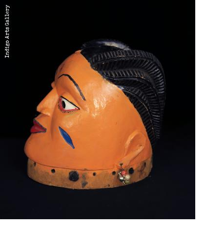 Pair of Fon Gelede Masks from Benin
