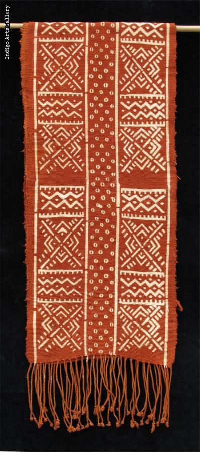 Bogolanfini Rouge - Kola-cloth scarf by Habibou Coulibaly