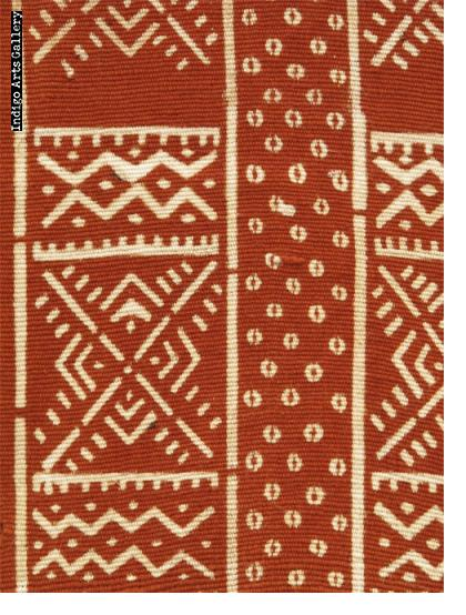 Bogolanfini Rouge - Kola-cloth scarf by Habibou Coulibaly