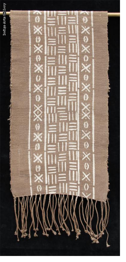 Bogolanfini - Mud-cloth scarf by Habibou Coulibaly