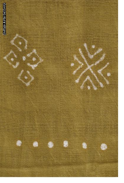 Bogolanfini Verde - Bamana Mud-cloth scarf