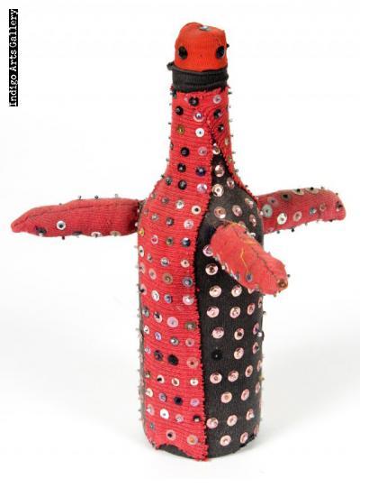 """""""Bossou Trois Cornes"""" Vintage Vodou Bottle"""