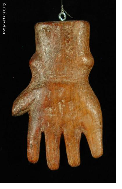 Milagre ex-voto hand with short fingers (#bxv-54)