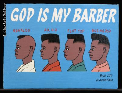 God is My Barber - Mini Signboard
