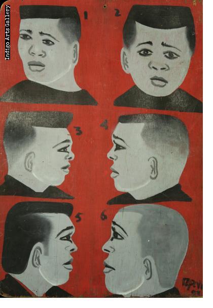 Six Guys - Barber Sign from Cameroun