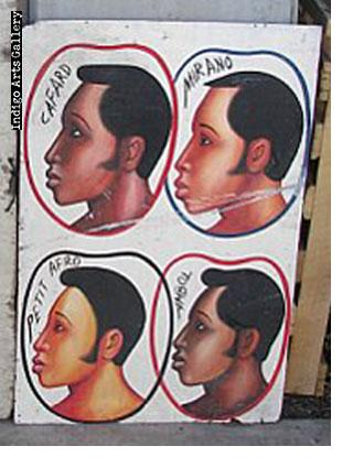 Petit Afro Hairdresser's Sign
