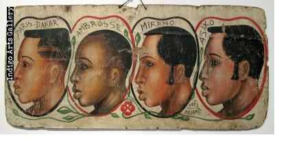 Paris - Dakar Two-sided Hairdresser's Sign