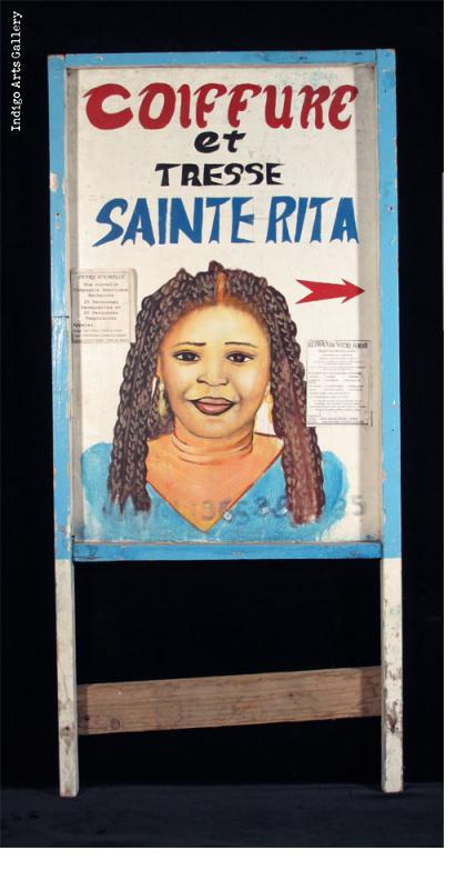 COIFFURE et TRESSE SAINTE RITA Two-sided Hairdresser Sign