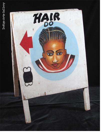 HAIR DO Sandwich board-style Hairdresser Sign